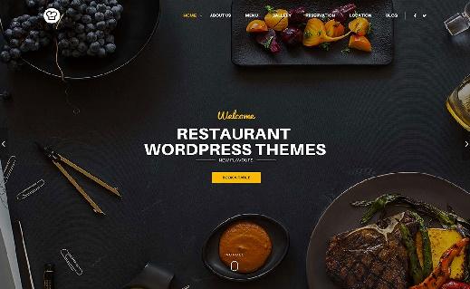 Mẫu giao diện website thiết kế nhà hàng xuất sắc nhất năm 2017