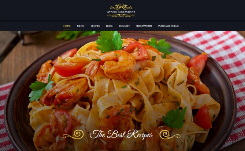 Top restaurant website design