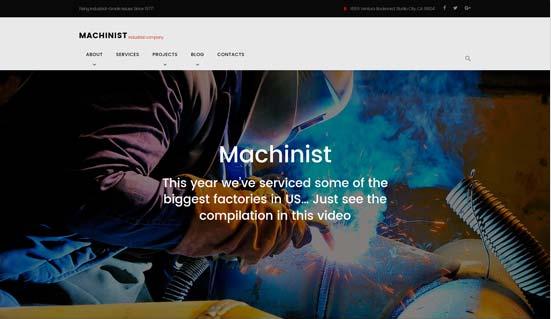 Template website ngành xây dựng cơ khí